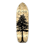 Old School Longboard Deck - In the Pines Natural