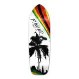 Old School Longboard Deck - Palm City Rasta
