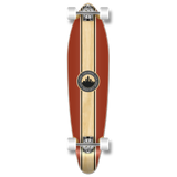 Kicktail Crest Burgundy Longboard Complete