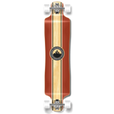 Lowrider Crest Burgundy Longboard Complete