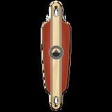 Drop Through Longboard Deck - Crest Burgundy