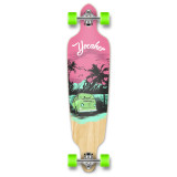 Drop Through Longboard Complete -VW Series - Pink N' Mint