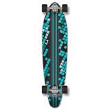 Kicktail Black Digital Wave Longboard Complete