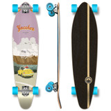 YOCAHER Kicktail Longboard Complete - VW Beetle Series - Yellow