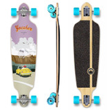 YOCAHER Drop Through Longboard Complete - VW Beetle Series - Yellow