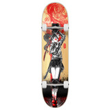 "Yocaher Complete Skateboard 7.75""  - Samurai Series - Girl Samurai Red Dragon"