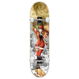 "Yocaher Complete Skateboard 7.75""  - Samurai Series - Girl Samurai Gold Dragon"