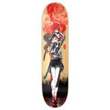 Yocaher Graphic Skateboard Deck  - Samurai Series - Girl Samurai Red Dragon