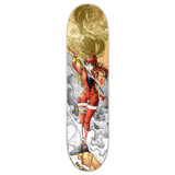 Yocaher Graphic Skateboard Deck  - Samurai Series - Girl Samurai Gold Dragon