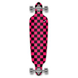 Drop Through Longboard Complete - Checker Pink