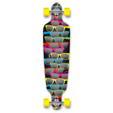 Punked Drop Through Shades Black Longboard Complete
