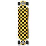 Lowrider Longboard Complete - Checker Yellow