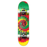 "Graphic Complete 7.75"" Skateboard - Tiedye Rasta"