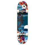 """Graphic Tropical Night 7.75"""" Complete Skateboard"""