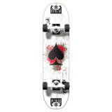 """Yocaher Graphic Ace White Complete 7.75"""" Skateboard"""