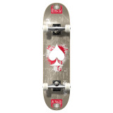 """Yocaher  Graphic Ace Grey Complete 7.75"""" Skateboard"""