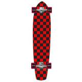 Slimkick Longboard Complete - Checker Red