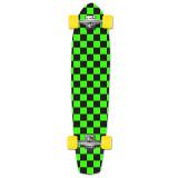 Slimkick Longboard Complete - Checker Green