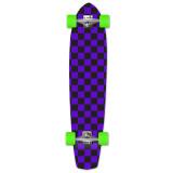Slimkick Longboard Complete - Checker Purple