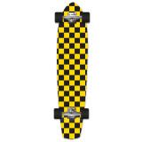 Slimkick Longboard Complete - Checker Yellow