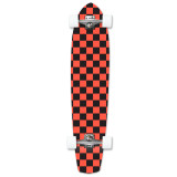 Slimkick Longboard Complete - Checker Orange