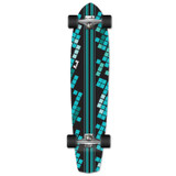 Slimkick Longboard Complete - Black Digital Wave