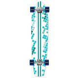 Slimkick Longboard Complete - White Digital Wave