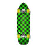 Old School Longboard Complete - Checker Green