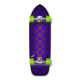 Old School Longboard Complete - Checker Purple