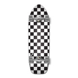 Old School Longboard Complete - Checker White
