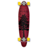 Kicktail Longboard Complete - In the Pines : Red