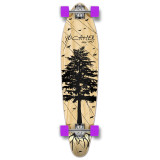 Kicktail Longboard Complete - In the Pines : Natural
