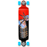 YOCAHER Drop Down Longboard Complete - The Bird Red