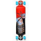 Lowrider Longboard Complete - The Bird Red