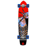 YOCAHER Slimkick Longboard Complete - The Bird Red