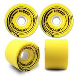Speed Cruiser 70mm Longboard Wheels - Solid Yellow