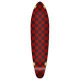Kicktail Longboard Deck - Checker Red