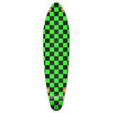 Kicktail Longboard Deck - Checker Green