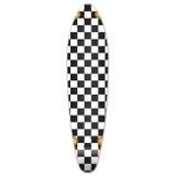 Kicktail Longboard Deck - Checker White