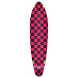 Kicktail Longboard Deck - Checker Pink