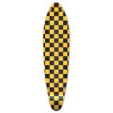 Kicktail Longboard Deck - Checker Yellow