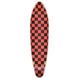 Kicktail Longboard Deck - Checker Orange
