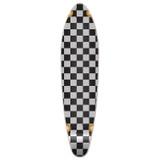Kicktail Longboard Deck - Checker Silver