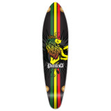 Kicktail Rasta Longboard Deck
