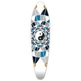 Kicktail Yin Yang Longboard Deck