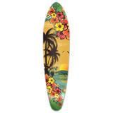 Kicktail Tropical Day Longboard Deck