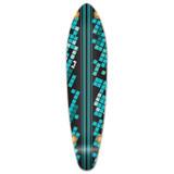 Kicktail Black Digital Wave Longboard Deck