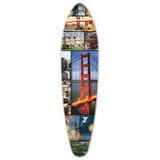 Kicktail San Francisco Longboard Deck