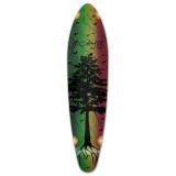 Kicktail Longboard Deck - In the Pines : Rasta