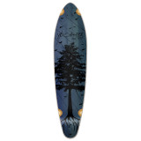 Kicktail Longboard Deck - In the Pines : Blue